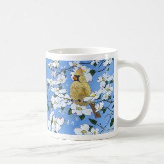 Female Cardinal in the Dogwoods Coffee Mug