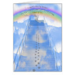 Female Cat Sympathy Card- Stairway to Heaven Card