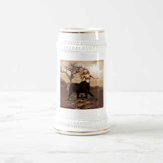 Female Centaur  Beer Stein 18 Oz Beer Stein