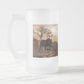 Female Centaur  Frosted Beer Mug