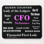 Female CFO Nicknames Funny Rude Silly Names Mouse Mats