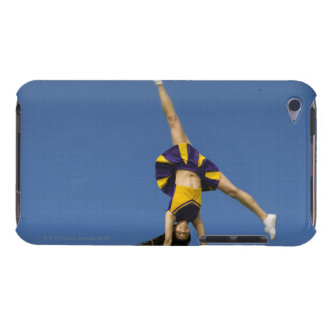 Female cheerleader doing cartwheel Case-Mate iPod touch case