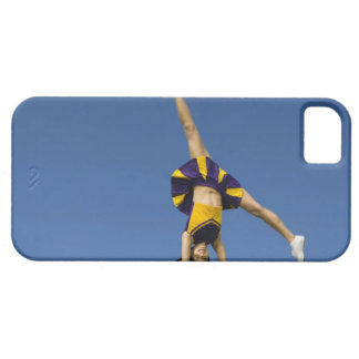 Female cheerleader doing cartwheel iPhone SE/5/5s case