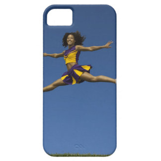 Female cheerleader doing jump splits in air iPhone SE/5/5s case