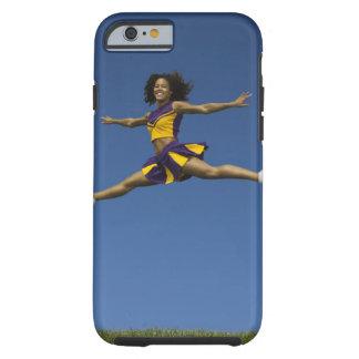 Female cheerleader doing jump splits in air tough iPhone 6 case