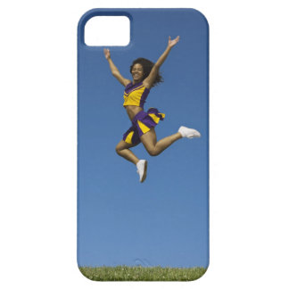 Female cheerleader jumping in air 2 iPhone SE/5/5s case