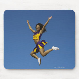 Female cheerleader jumping in air 2 mouse pad