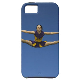 Female cheerleader jumping in air 3 iPhone SE/5/5s case