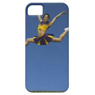 Female cheerleader jumping in air, arms iPhone SE/5/5s case
