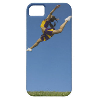 Female cheerleader leaping high up in air iPhone SE/5/5s case