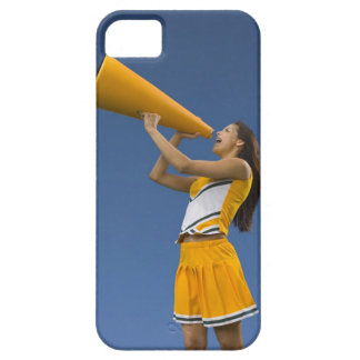 Female cheerleader shouting into megaphone iPhone SE/5/5s case