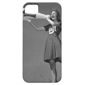 Female cheerleader using megaphone iPhone SE/5/5s case