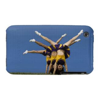 Female cheerleaders doing handstands iPhone 3 Case-Mate cases