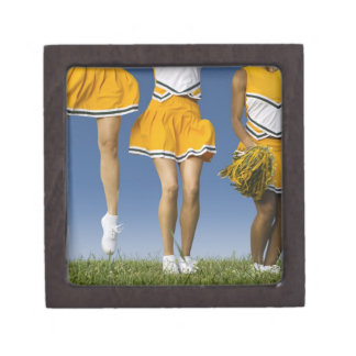 Female cheerleader's legs  (low section) gift box