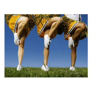 Female cheerleader's legs (low section) postcard