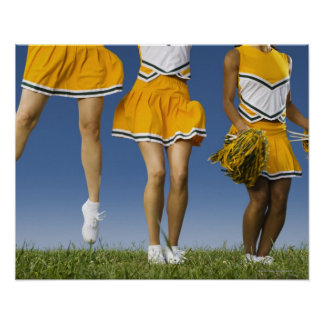 Female cheerleader's legs  (low section) poster