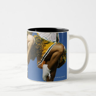 Female cheerleader's legs (low section) Two-Tone coffee mug