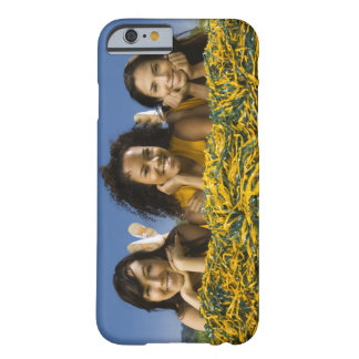 Female cheerleaders lying on grass with pompoms barely there iPhone 6 case