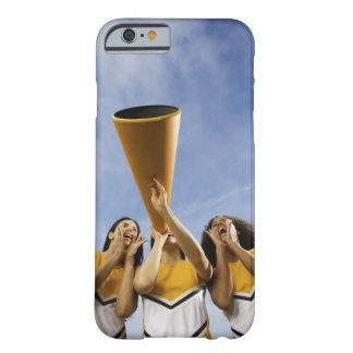 Female cheerleaders shouting through megaphone, barely there iPhone 6 case