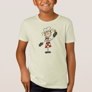 Female Chef With Mitts and Wooden Spoon T-Shirt