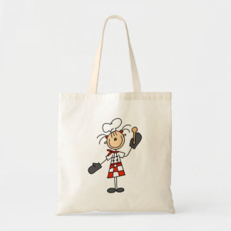 Female Chef with Oven Mitts Tshirts and Gifts Budget Tote Bag