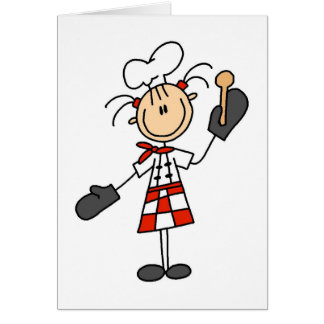 Female Chef with Oven Mitts Tshirts and Gifts Card