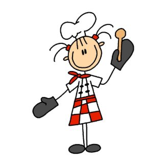 Female Chef with Oven Mitts Tshirts and Gifts Post Card