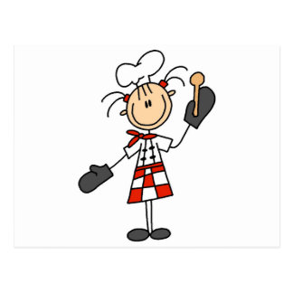 Female Chef with Oven Mitts Tshirts and Gifts Postcard