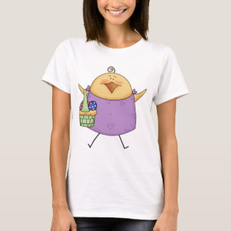 Female Chick with Purple Shirt Holding Basket
