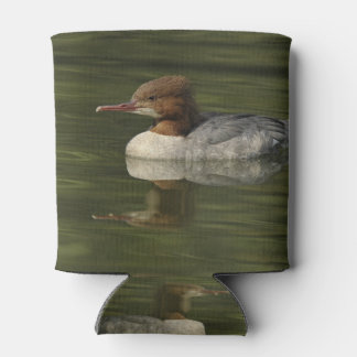 Female Common Merganser red headed sea duck Can Cooler