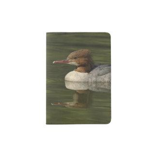 Female Common Merganser red headed sea duck Passport Holder