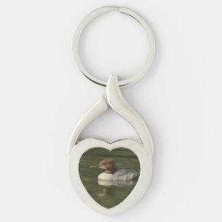 Female Common Merganser red headed sea duck Key Chain