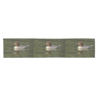 Female Common Merganser red headed sea duck Short Table Runner