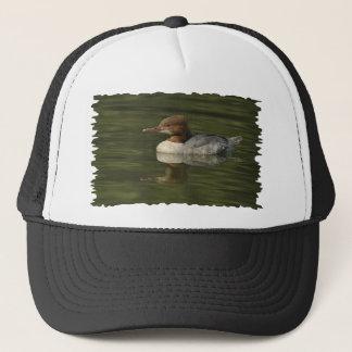Female Common Merganser red headed sea duck Trucker Hat