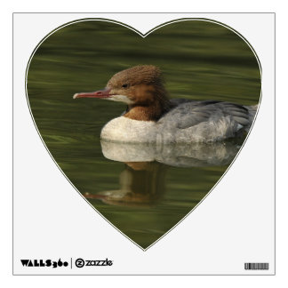 Female Common Merganser red headed sea duck Wall Decal