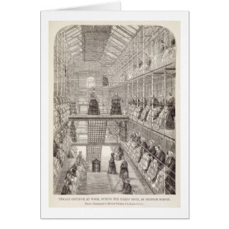 Female Convicts at Work during the Silent Hour in Card
