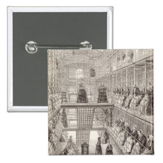Female Convicts at Work during the Silent Hour in Pinback Button