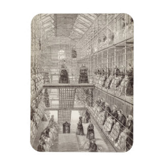 Female Convicts at Work during the Silent Hour in Rectangular Photo Magnet