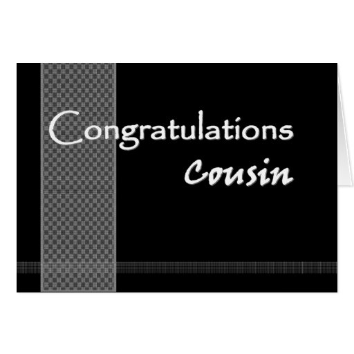 FEMALE COUSIN Wedding Congratulations Greeting Card