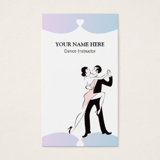 Female Dance Instructor Business Card Template