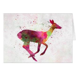 Female deer 01 in watercolor tarjeta de felicitación