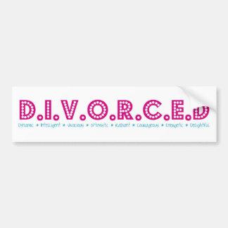 Female Definition of Divorce Bumper Sticker