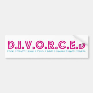 Female Definition of Divorce Bumper Stickers