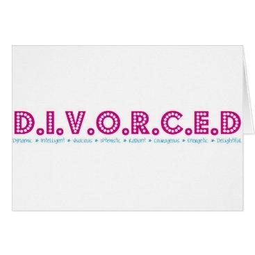 divorce Female Definition of Divorce Card