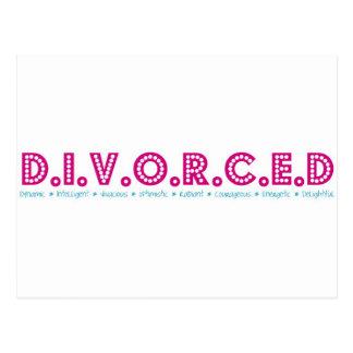 Female Definition of Divorce Post Card