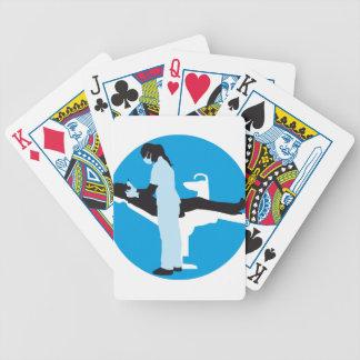 female dentist baraja cartas de poker
