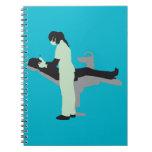 female dentist spiral note books