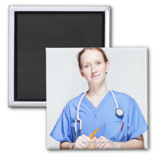 Female Doctor in Scrubs Magnet
