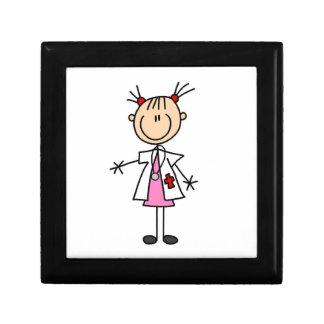 Female Doctor Stick Figure Keepsake Boxes