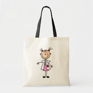 Female Doctor Stick Figure Tote Bag